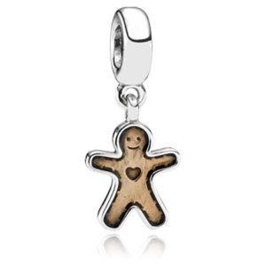 Retired authentic Pandora gingerbread man charm